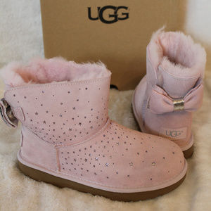 UGG MINI BOW II SPARKLE BOOTS NEW! PINK